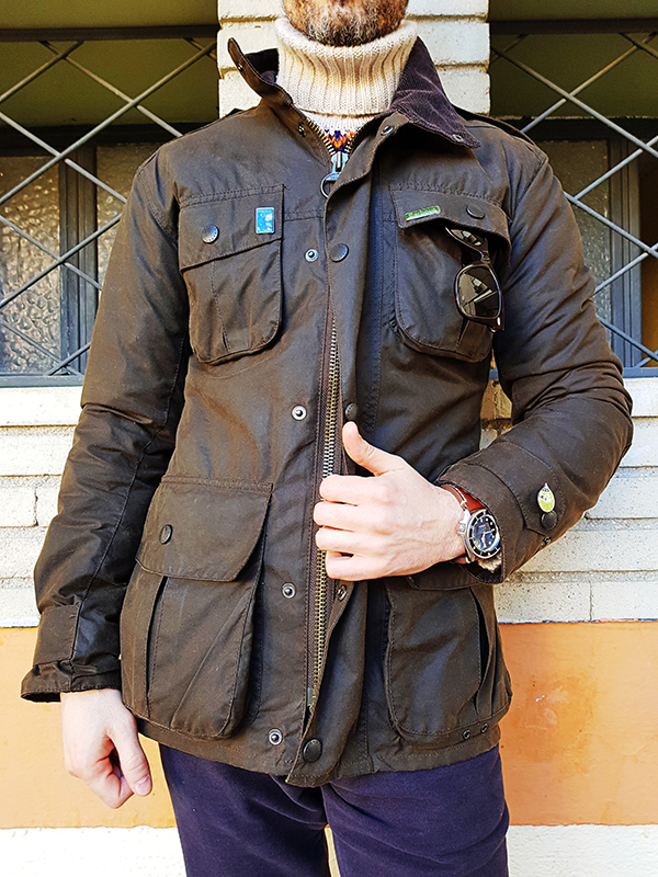 barbour waxed jacket style