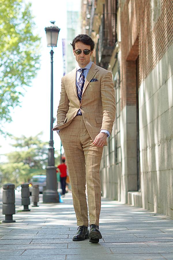 beige suit style for men