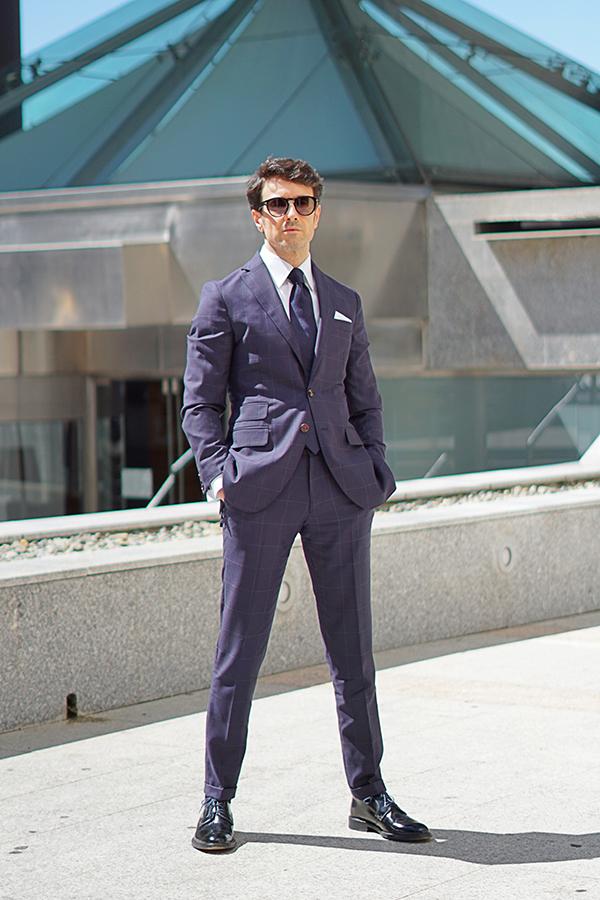 blue square suit for men