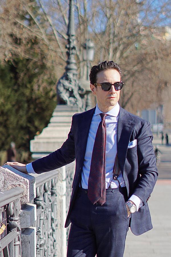 blue suit for man