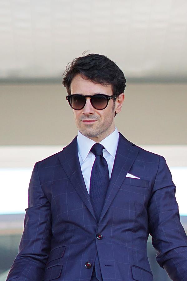 blue suit men style