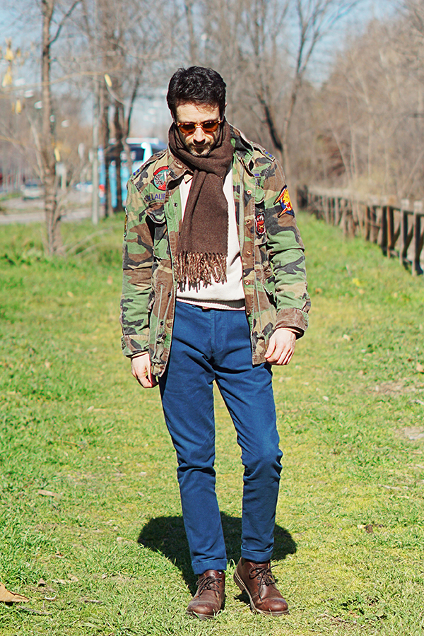 camouflage street style men