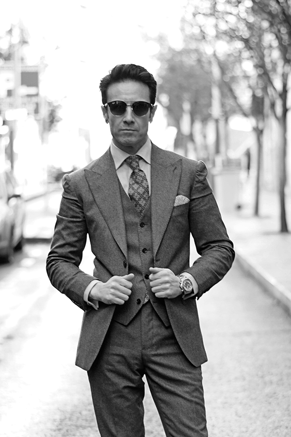 grey suit for man