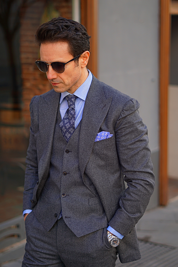 grey suit for men