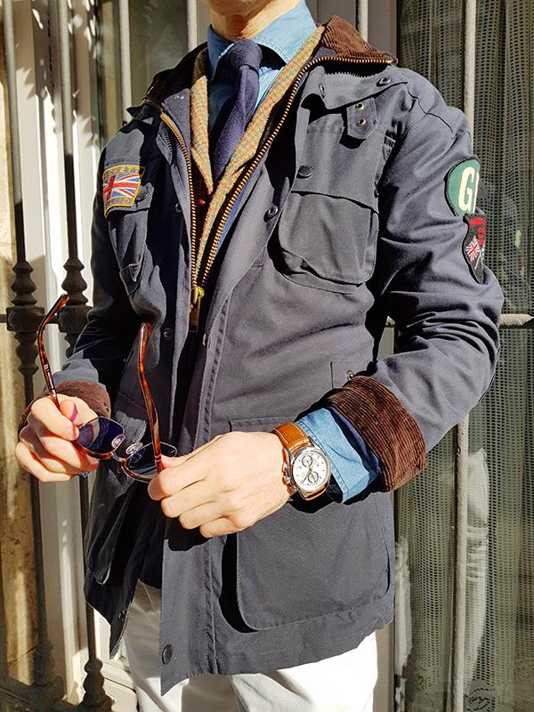 hackett waxed jacket