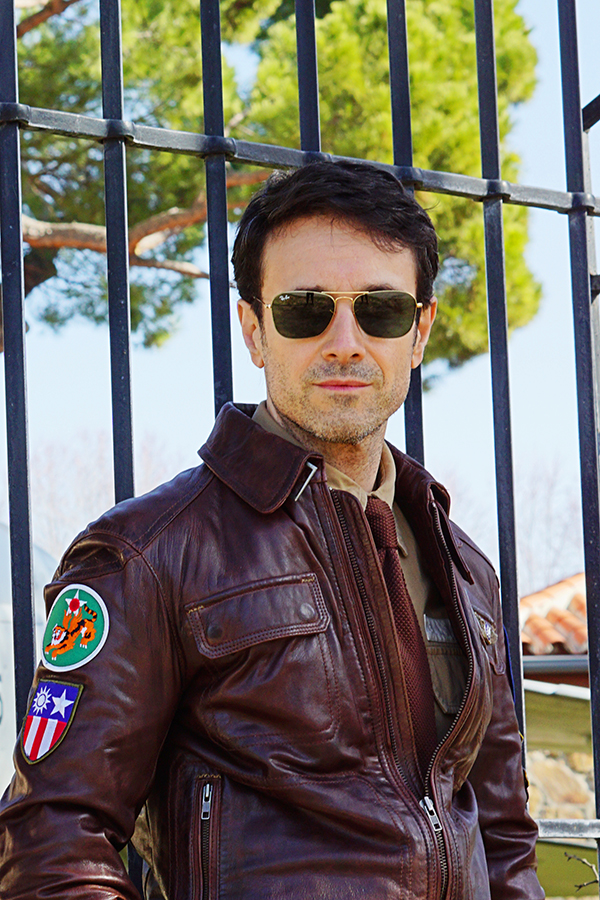 pilot jacket style for man