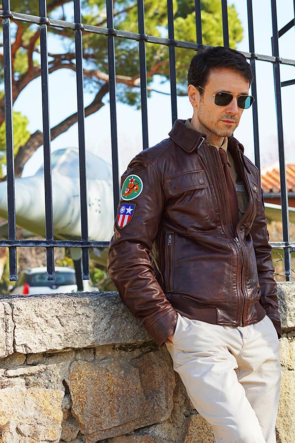 pilot jacket style