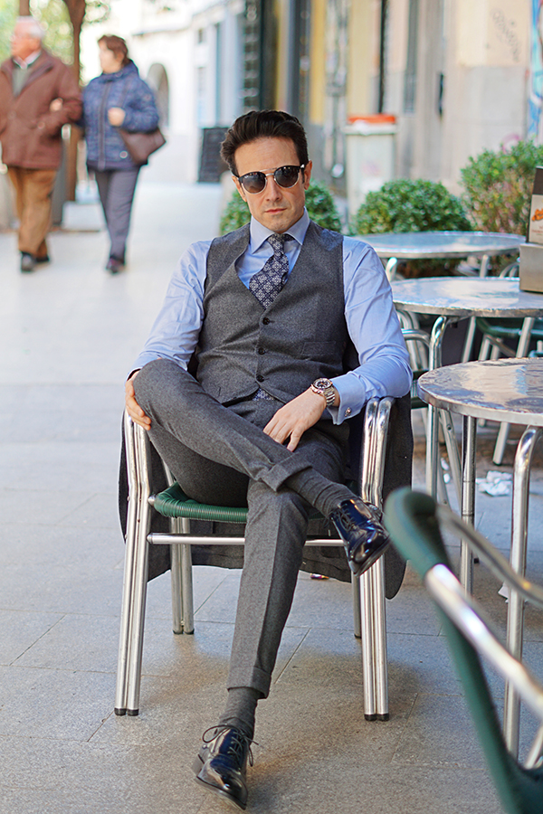 three piece suit style