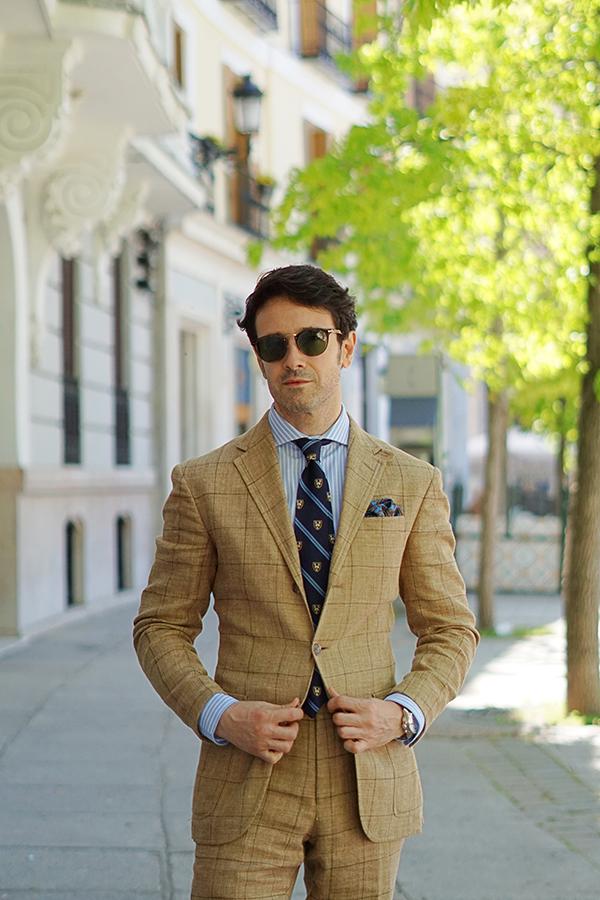 traje hombre de lino