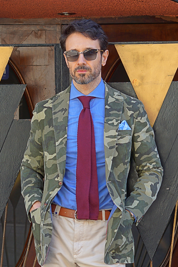 camouflage blazer jacket style for men