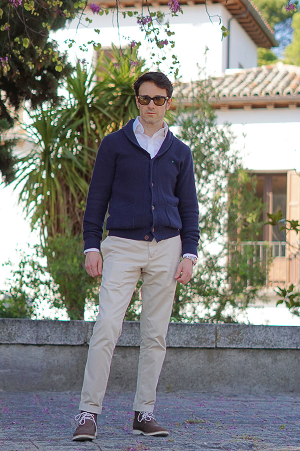cardigan outfit for men