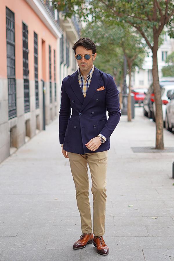 chaqueta cruzada hombre