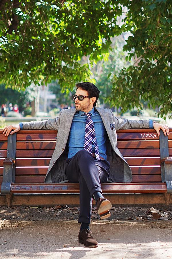 grey blazer for men style