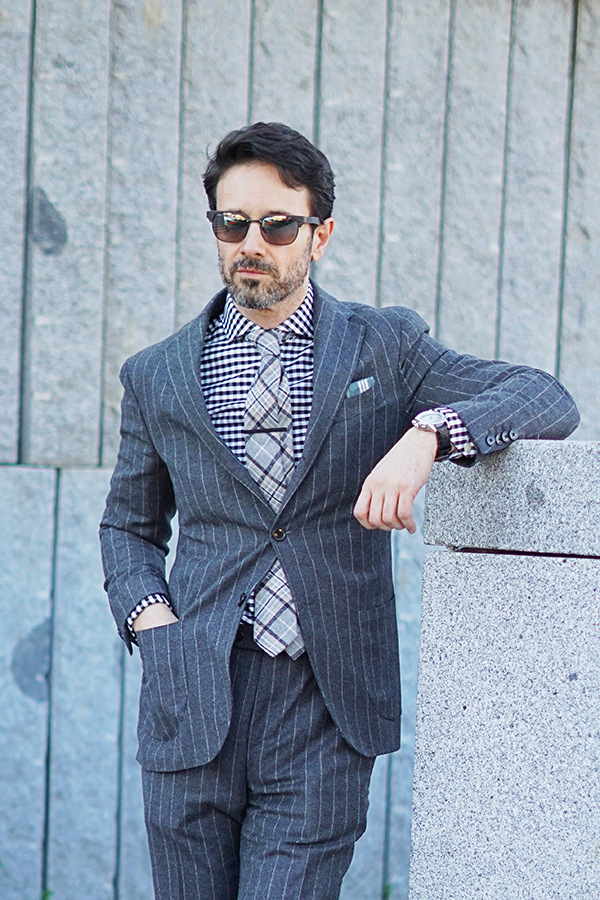 striped suit for men