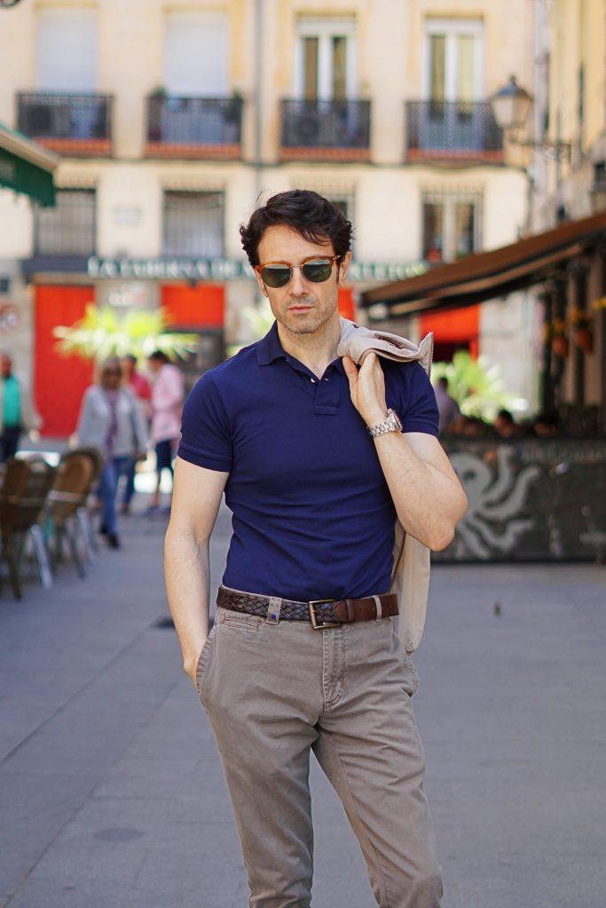 blue polo shirt ralph lauren outfit