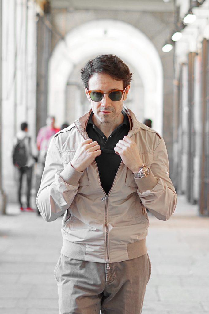 hackett beige jacket