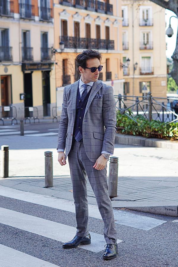grey suit men