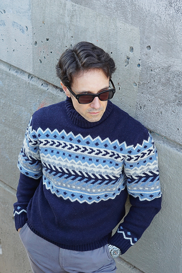 blue sweater for men