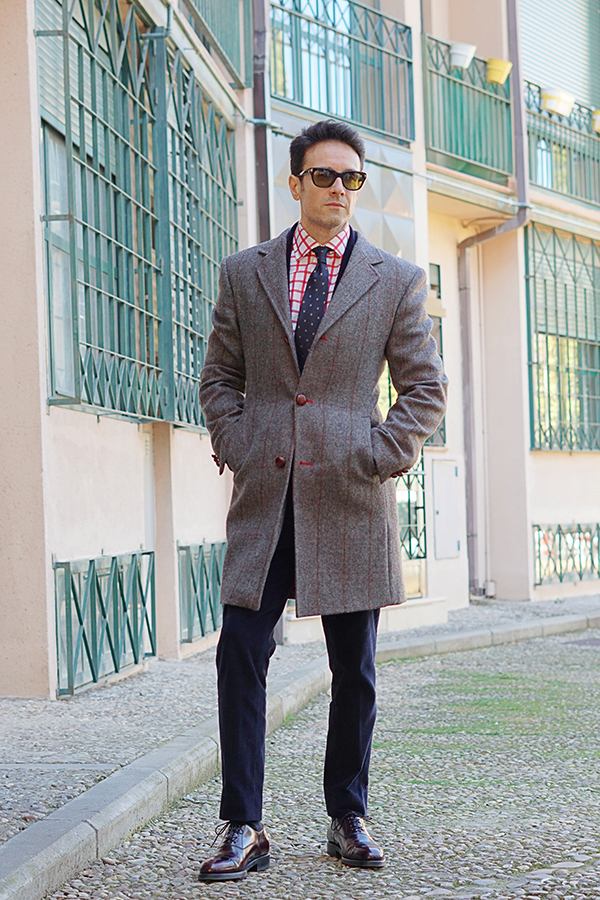 grey coat men