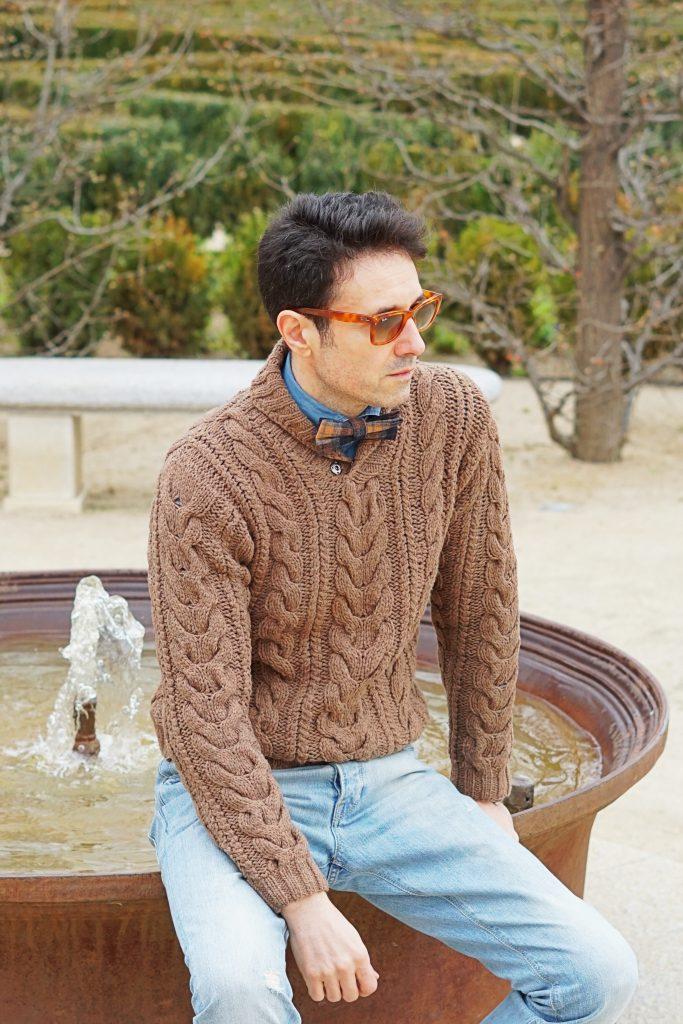 brown sweater men