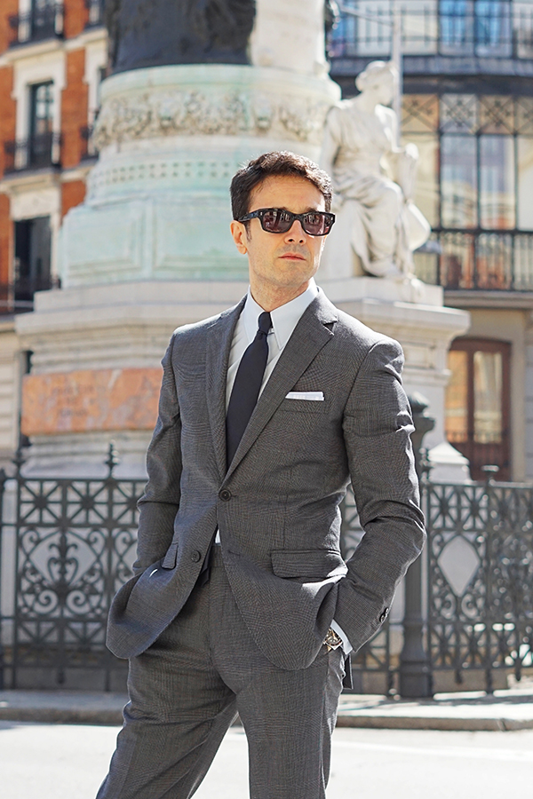 grey suit men