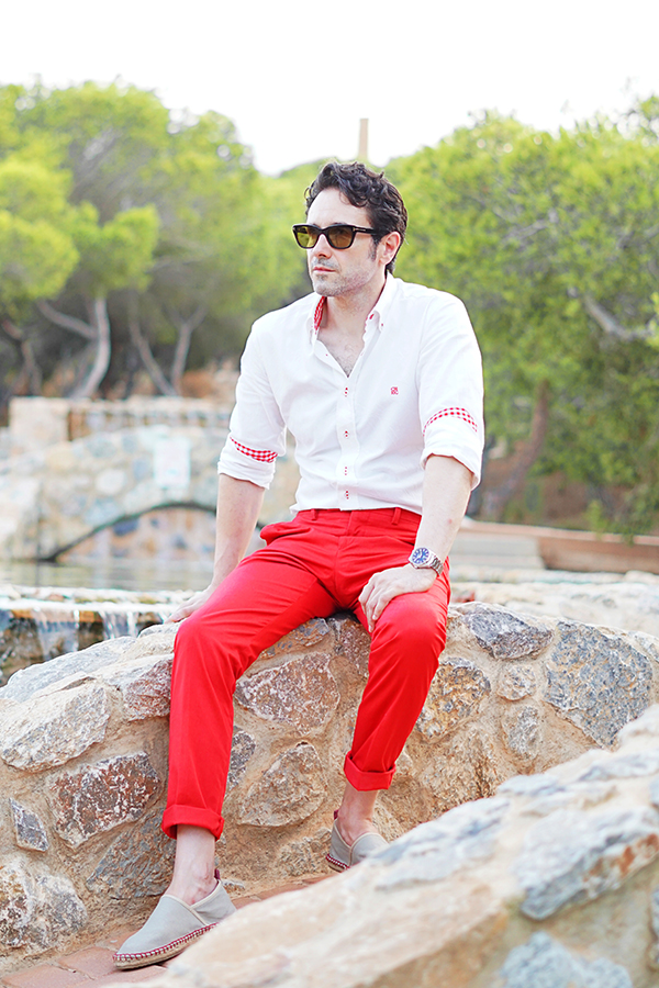 red trousers for men