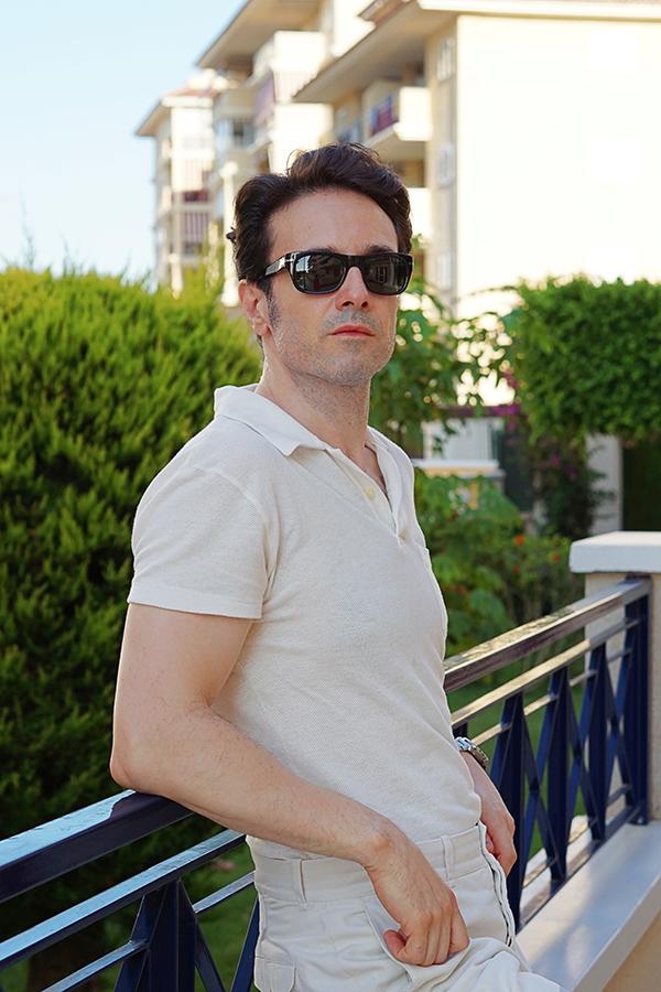 white polo shirt for men