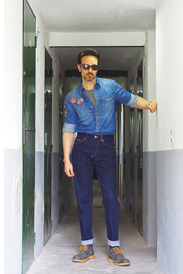 denim outfit men