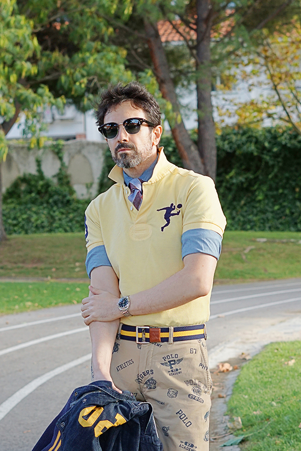 yellow polo ralph lauren polo shirt