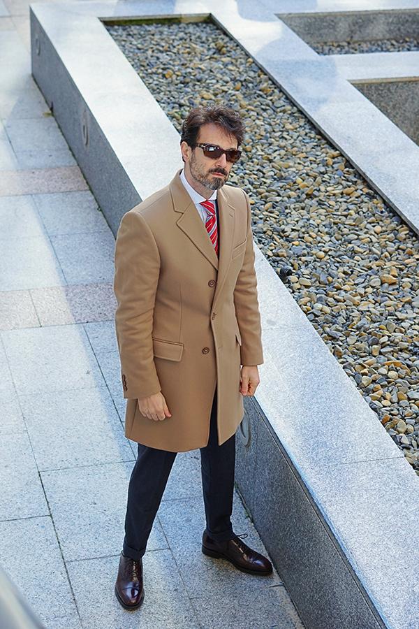 beige coat for men