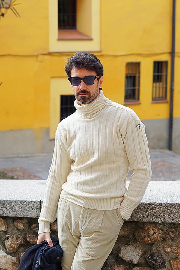 white turtleneck sweater