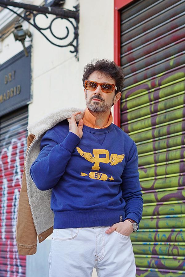 blue sweater for men