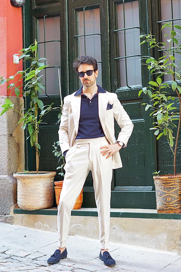 traje blanco para hombre