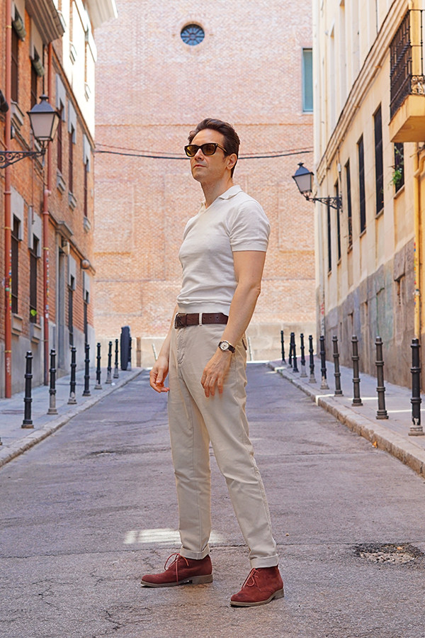 polo shirt outfit for men
